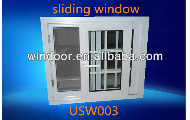 Steel reinforcement Cheap price single glass sliding plastic grids for windows