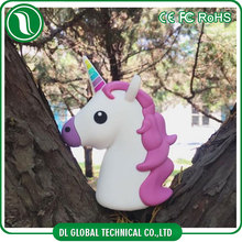 Popular 2016 hot sell in America cartoon move power charger of unicorn design power bank PVC universal phone charger