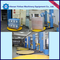 Economic Money Save Type Fabric or stretch film wrapping machine/pallet stretch wrapping machine/paper roll wrapping machine