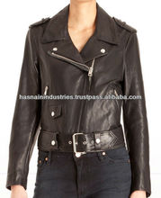 Ladies brando leather jacket