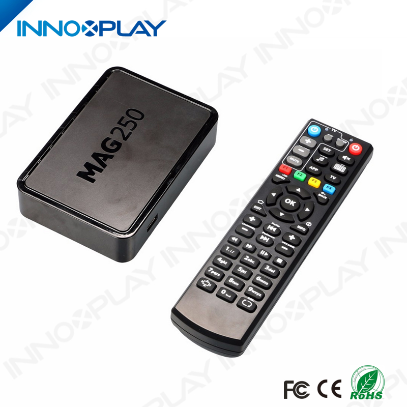 Best Arabic iptv box MAG 250 Linux tv box blue film video download mp3 Indian Romania Somali channels mag 250 iptv box
