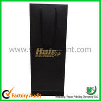 Decent custom packaging paper gift bag with handles and ribbon for ties, wine