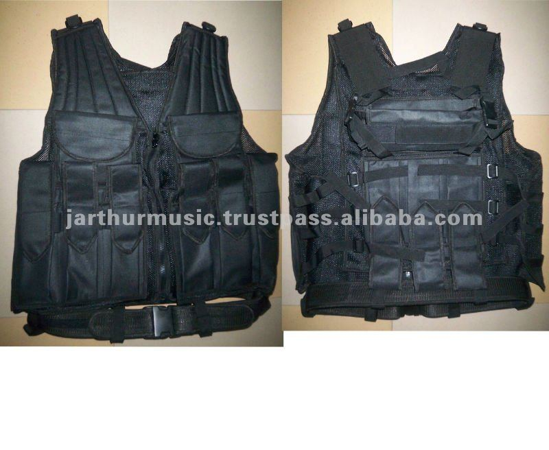 Black Paintball Vest