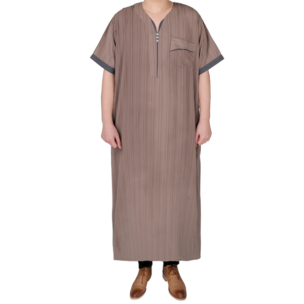 Latest Thobe <strong>Design</strong> 2016 Short Sleeve Men Kaftans
