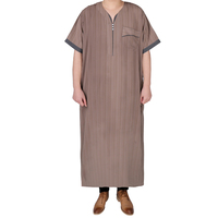 Latest Thobe Design 2016 Short Sleeve Men Kaftans