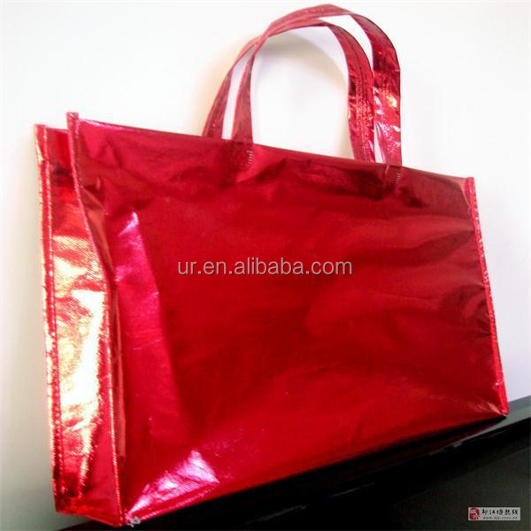 Gloss Laminated Handle Eco Friendly Non Woven Tote Bag