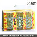 printing drinking water glass set,printing glass,juice glass set