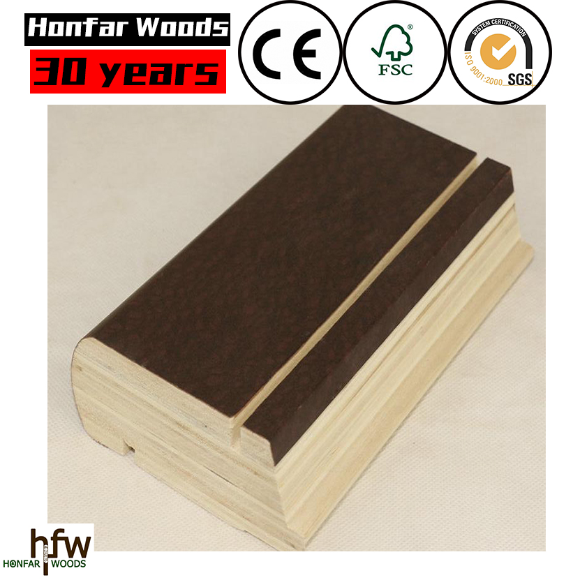 home decorative primed mdf skirting mouldings or PVC veneer MDF skirting moulding