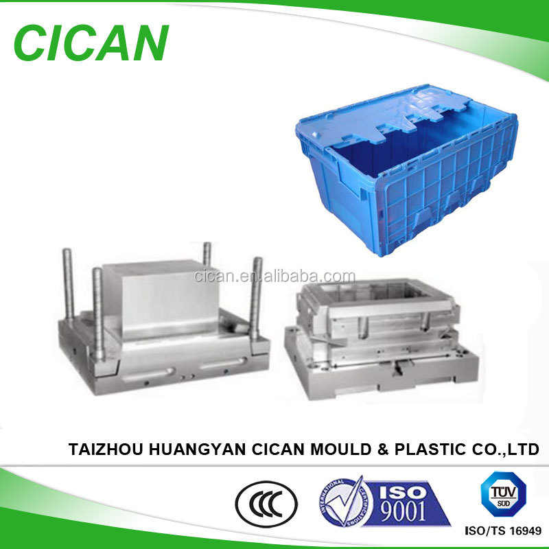 Customized mold high precision industrial/transpor plastic box <strong>injection</strong> mould