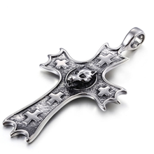 Celtic Retro Trend Personalized Cross Pendant Wholesale Wolf Heads Men Stainless Steel Pendant