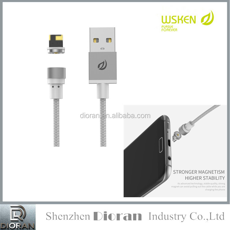 100% original WSKEN X Cable MINI 1 ,mini2 Magnetic Cable Micro USB Sync Data Cable For Android iPhone