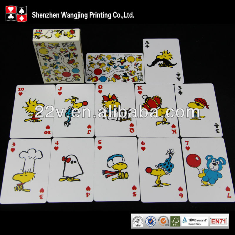 Custom nap plastic playing card with low price