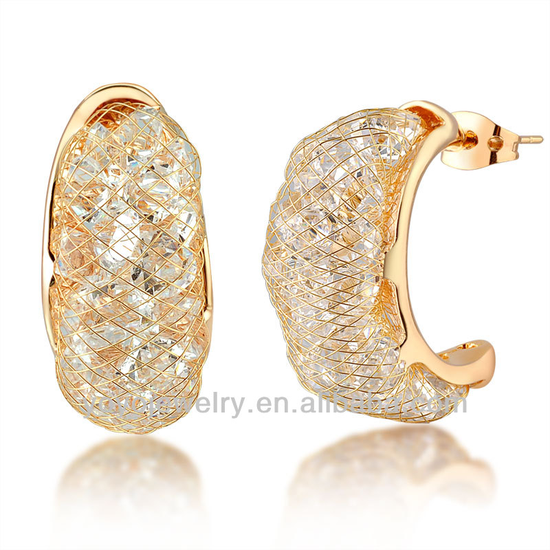 2014 gold plated one gram gold earrings designs jewelry