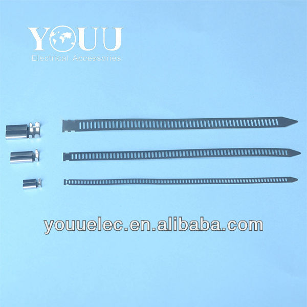 Patented stainless steel cable ties/steel strapping for on board ships and offshore units