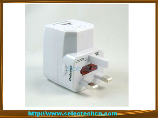 China factory smart multi nation 5V 1A travel adapter 1000ma USB power charger
