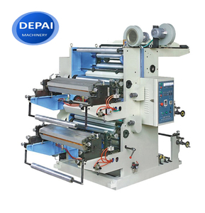 DEPAI hot sale 2 colour felxographic plastic bag film roll printing machine price
