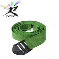 "extra durable fabric 10"" d ring yoga stretching belts"