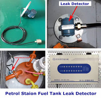 Double wall tank diesel fuel and water leak detection for petrol stations