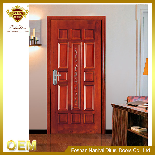 solid wooden door frame and wooden door design pictures JHA103