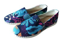 Latest design Rubber Sole Canvas Shoes for women