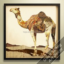 Abtract arabic camel in desert Art Printed on Canvas/ Hot Sale Abstract Canvas Painting/ giclee canvas prints