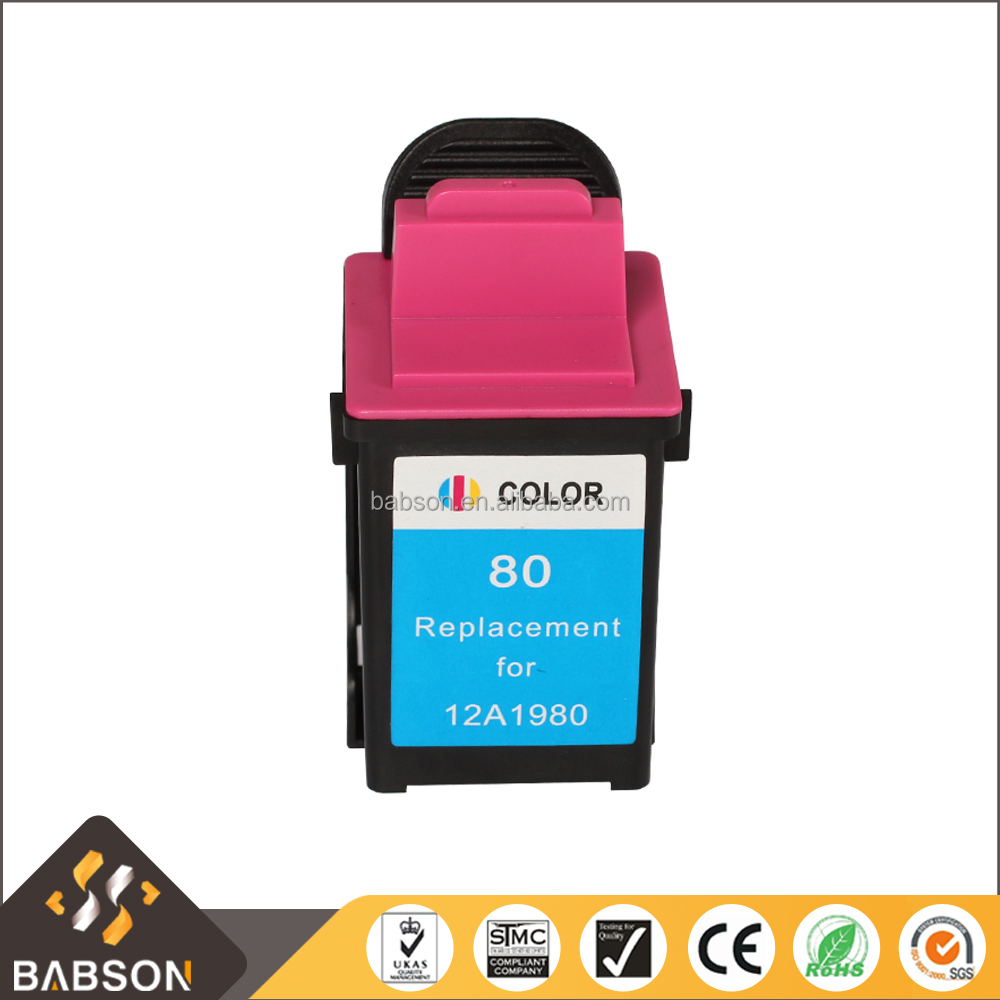 Compatible color ink cartridge 80 for printer 12A1980 directly sale from China