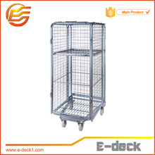 "Four sided ""A"" frame security foldable wire mesh movable storage roll cage"