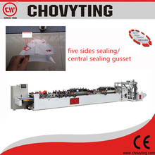Fully Automatic Laminated Material 5 Sides Sealing Pouch Machine Five Sides Sealing Bag Making Machine