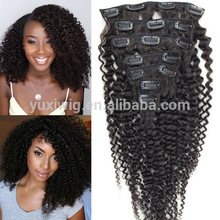reliable China vendor tight afro kinky curly clip in hair extensions for black women human hair