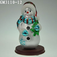 Latest Cute Fairy Glass Snowman Ornament Crafts
