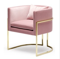 Guangdong factory Blushed stainless steel rose gold dining chair