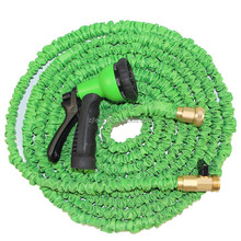 Deluxe 100 Feet 100FT Expandable Flexible Garden Water Hose+Spray Nozzle Green