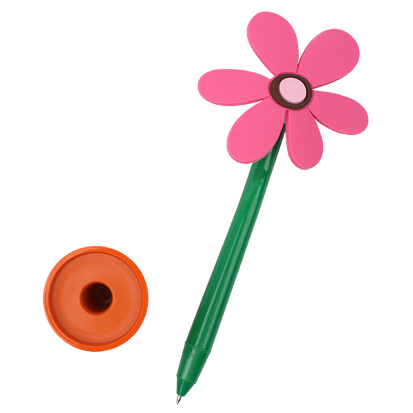 Licheng BP3403 Stationery Pen, Promotional Plastic Flower Pen