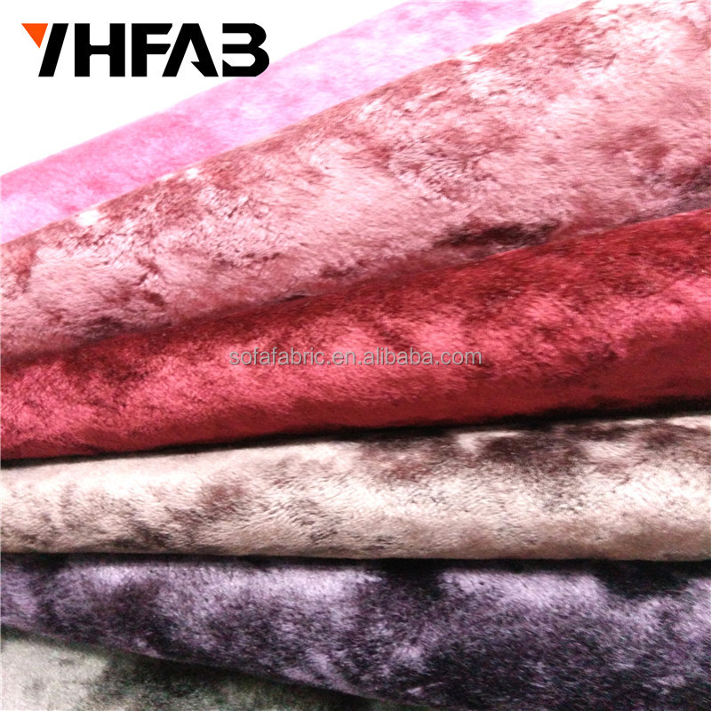 China Supplier Crushed Ice Velvet sofa fabric curtain fabric Soft Velvet Fabric