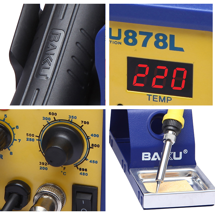 BAKU BK-878L the latest bga rework station hot air gun smd rework soldering station