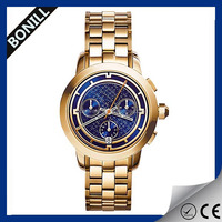 2016 Stylish mens luxury stainless steel watch ,colorful face dial watch