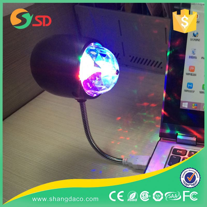 2016 Top seller Christmas party decor 360 degrees Colorful Disco light 4W Plastic Led Crystal Ball disco ball wholesale