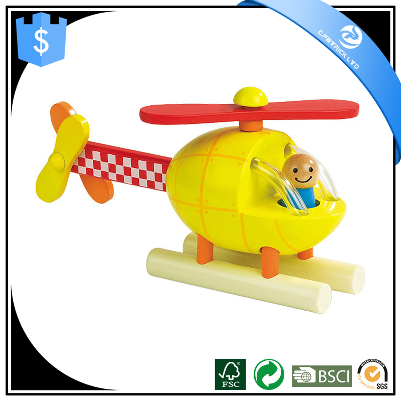 2017 wholesale kids wooden toy airplane