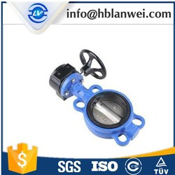 DN50-DN600 gear operated grooved end butterfly Valve D371X-16