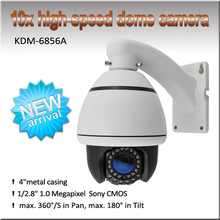MINI H.264 1.3megapixel 960P high resolution high speed dome IP PTZ Security camera, support P2P/ONVIF/POE