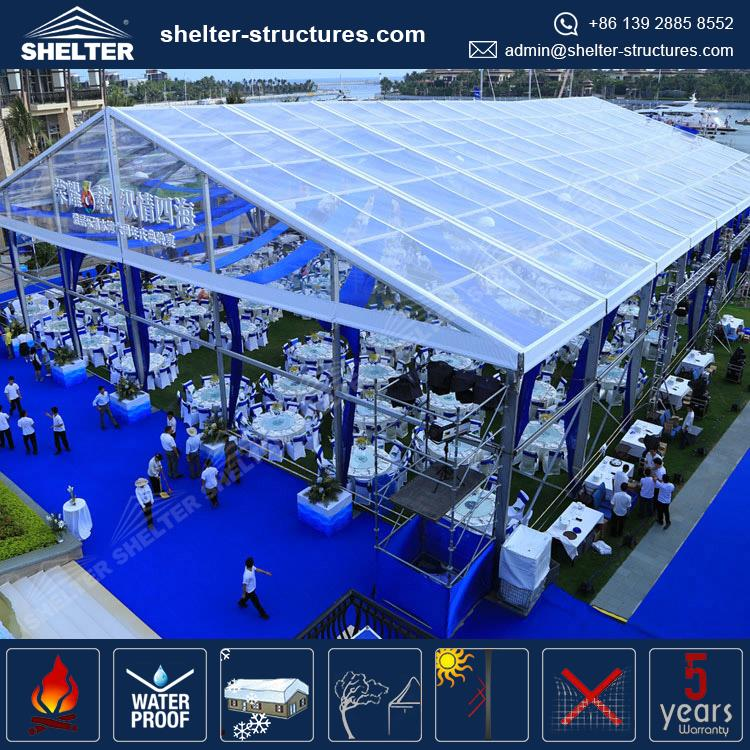Multi-purpose waterproof stretch wedding tent sales in china
