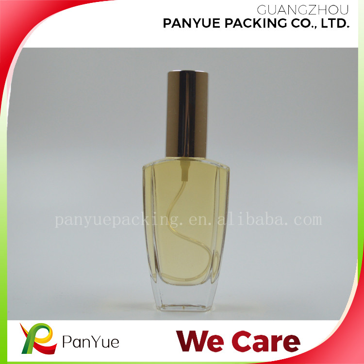 perfume glass bottle 50ml perfume bottle atomizer with screw neck