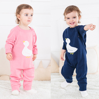 Winter newborn sweater clothes lovely duck baby Jumpsuit made of cotton sweater