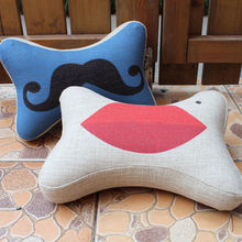beard cushion cover, lips cushion cover car driving travel neck support headrest cushion