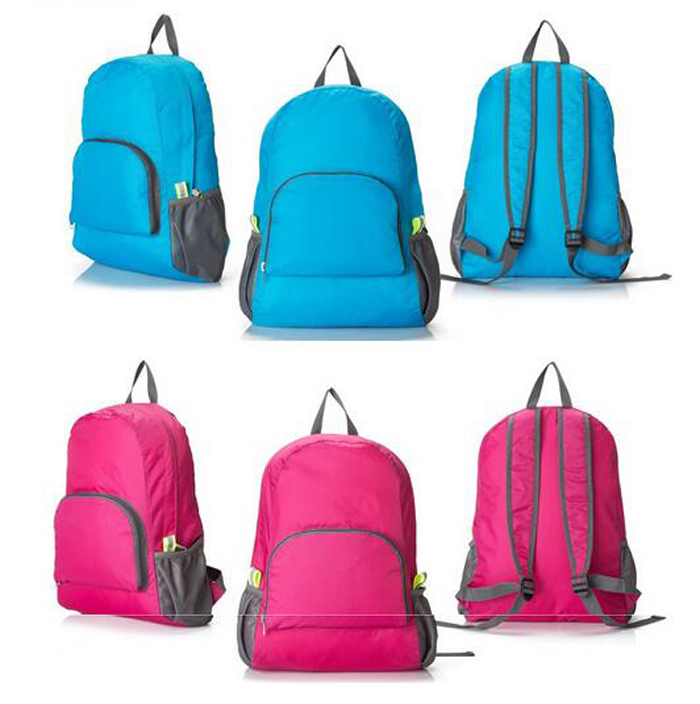 Bulk cheap wholesale Korea style low price simple custom plain waterproof foldable <strong>backpack</strong>
