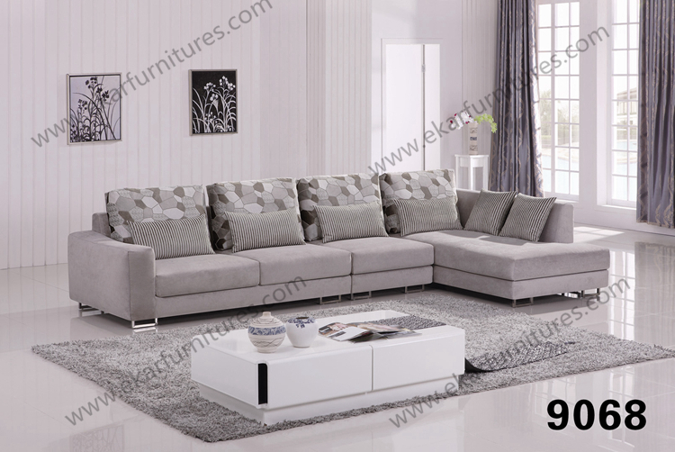 Indoor Trendy Sleek Bentwood Fabric Sofa