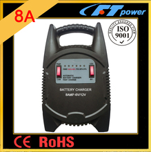 LED 8A automatic car bus vehicle ship truck battery 6v 12v switch CE RoHS battery handy charger for hot sales