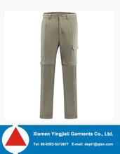 2015 Two kinds of wear method 100%polyester quick dry detachable couple models gray Sports pants