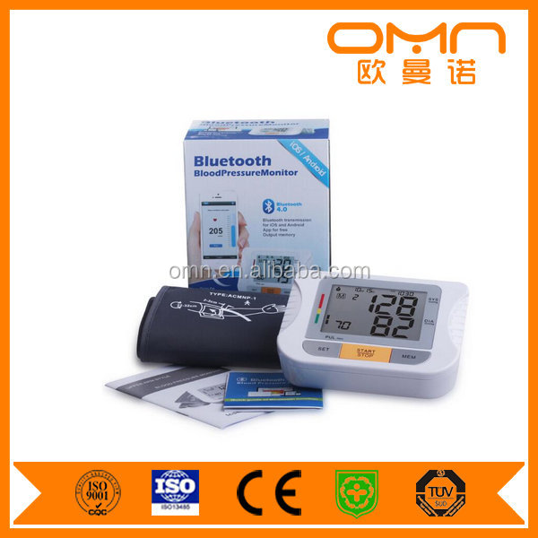 IOS Android Sphygmomanometer without Stethoscope Professional Digital Bluetooth Blood Pressure Monitor with Adult Sized Cuff