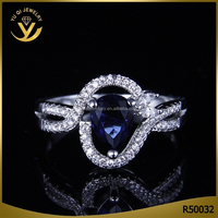YiWu Factory Wholesale 2016 New Womens Copper Cheap White Gold Plated Wedding Diamond Rings